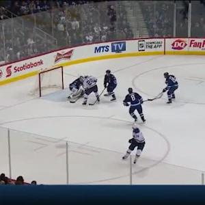 Michael Hutchinson Save on Paul Stastny (02:21/OT)