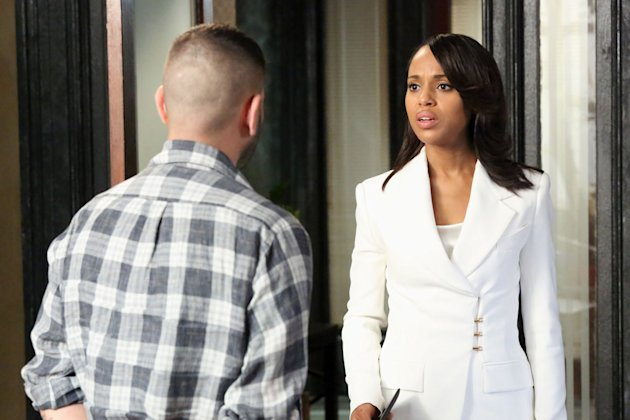 """White Hat's Back On"" - With the identity of the mole now closer than ever, Olivia and her team are in very real danger. Meanwhile, the latest White House scandal pushes Cyrus to his limits, on the Season Finale of ""Scandal."""