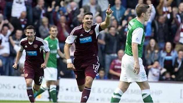 Scottish Premiership - Hearts beat Hibernian in Edinburgh derby