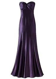 strapless long dress royal purple