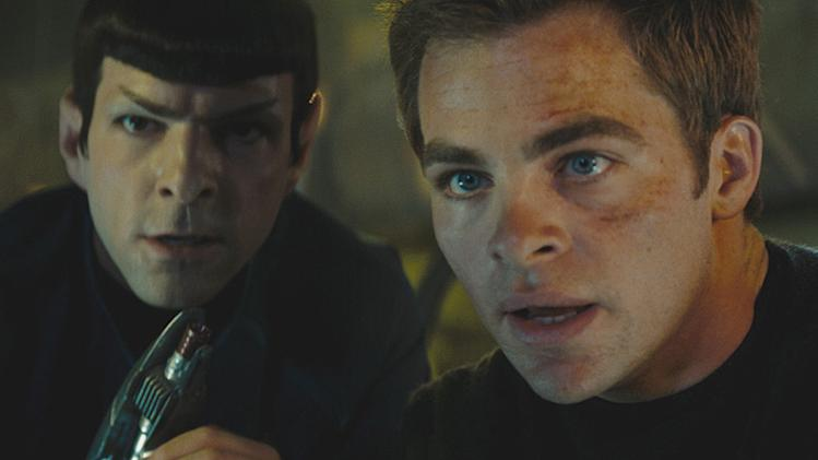 Star Trek Production Photos 2009 Paramount Pictures Chris Pine Zachary Quinto