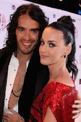 Katy Perry and Russell Brand attend the MTV Europe Awards 2010 at the La Caja Magica in Madrid, Spain, on November 7, 2010   -- Getty Images