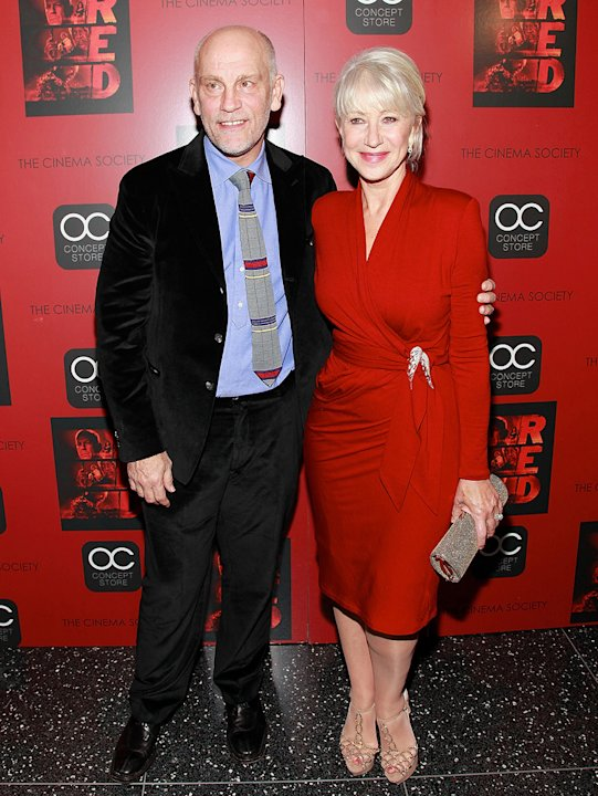 Red NYC Screening 2010 John Malkovich Helen Mirren