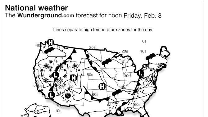 A pair of storms will combine off the Northeast coast, bringing heavy snow and strong winds throughout New England.  Another storm will move into the West, bringing rain and high elevation snow from California through the Great Basin. (AP Photo/Weather Underground)