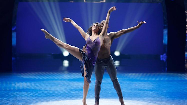 "Contestant Jordan Casanova and All-Star Brandon Bryant perform a Contemporary routine to ""Who You Are,"" choreographed by Dwight Rhoden and Desmond Richardson on ""So You Think You Can Dance."""