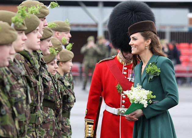 Kate Middleton Duchess Cambridge green Emilia Wickstead Coat dress St Patricks Day
