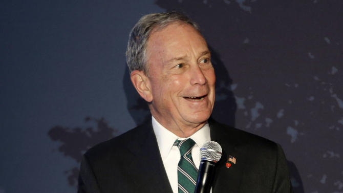 New York City Mayor Michael Bloomberg speaks during a news conference on Yahoo, Flickr and Tumblr Monday, May 20, 2013, in New York. Yahoo edged up 31 cents, or 1.2 percent, to $26.83 after the Internet company said it was buying online blogging forum Tumblr for $1.1 billion. (AP Photo/Frank Franklin II)
