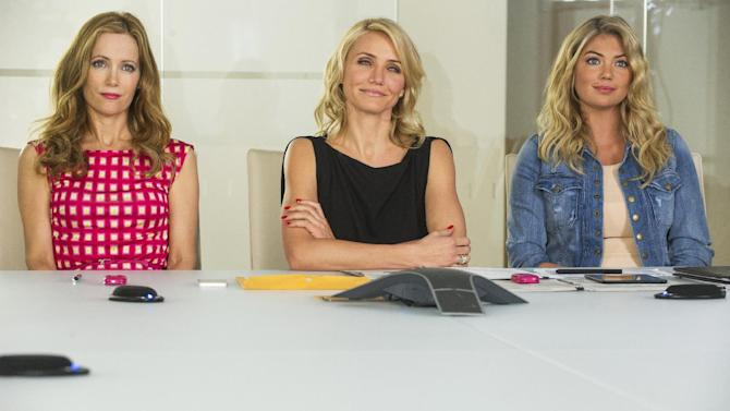 "This image released by 20th Century Fox shows Leslie Mann, from left, Cameron Diaz and Kate Upton in a scene from ""The Other Woman."" (AP Photo/20th Century Fox, Barry Wetcher)"