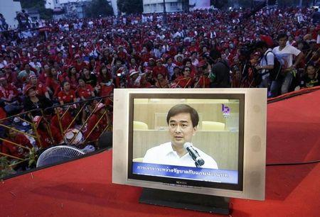 Thai red shirt leader gets two-year jail term for insulting former PM
