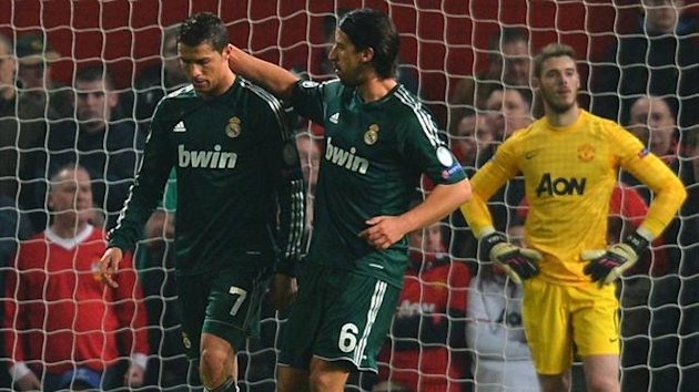 Real Madrid forward Cristiano Ronaldo after scoring against former club Manchester United (AFP)