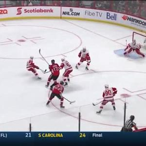 Jimmy Howard Save on Erik Condra (10:21/1st)