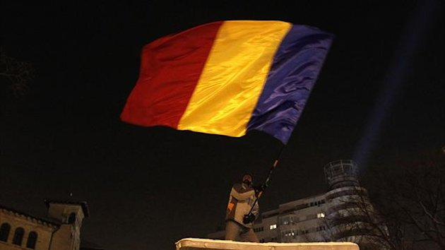 Romania's national flag, generic (Reuters)