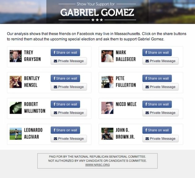 GOP gets social in Mass. Senate race with campaign Facebook app
