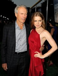 Clint Eastwood and actress Amy Adams arrive at the premiere of &quot;Trouble with the Curve&quot; in California on September 19. He said he felt comfortable being directed by long-time producer and collaborator Robert Lorenz in the movie, which co-star Adams