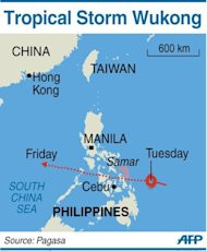 Tropical Storm Wukong make landfall in eastern Philippines on Christmas Day