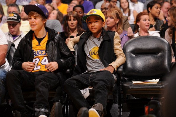Lakers - Justin Bieber dan Jayden Smith.