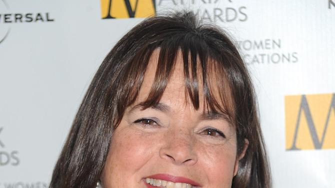 FILE - In this April 19, 2010, file photo, author and Food Network host Ina Garten attends the 2010 Matrix Awards presented by the New York Women in Communications at the Waldorf-Astoria Hotel in New York. Garten, Anthony Bourdain, and Martha Stewart remain the names to beat in food broadcasting. For a second year running, the three dominated the top tier of television awards by the James Beard Foundation, winning for the same shows in the same categories as in 2014. (AP Photo/Evan Agostini, File)