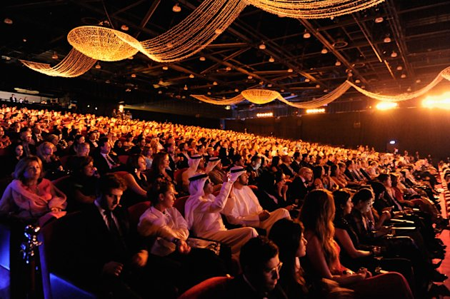 DUBAI, UNITED ARAB EMIRATES - DECEMBER 09: A general view of the Opening Night ceremony during day one of the 9th Annual Dubai International Film Festival held at the Madinat Jumeriah Complex on December 9, 2012 in Dubai, United Arab Emirates. (Photo by Gareth Cattermole/Getty Images for DIFF)