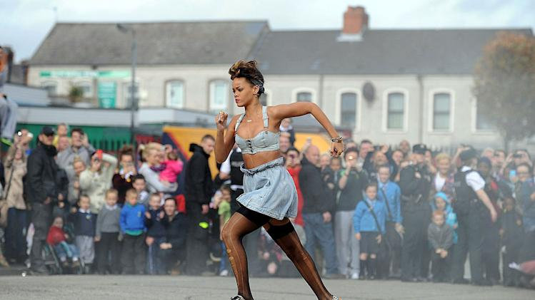 Rihanna On Set Ireland