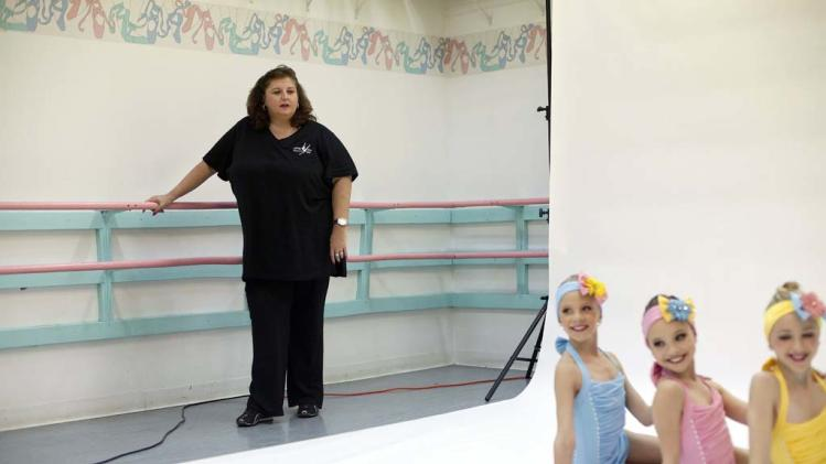 "Abby Lee Miller coaches Paige, Maddie, and Chloe in ""Dance Moms."""
