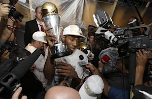 Kawhi Leonard became the Finals MVP in just his third NBA season. (AP)