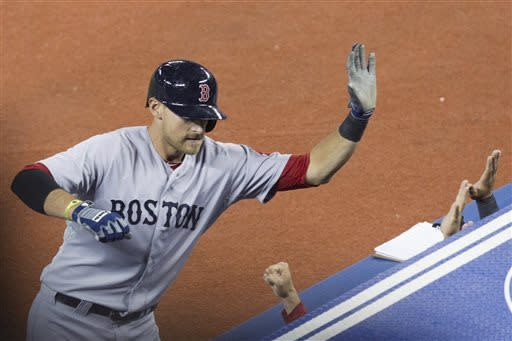 Middlebrooks hits 3 homers, Red Sox rout Blue Jays