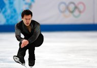 Canada's Patrick Chan performs in the Men's Figure Skating Team Short Program during the Sochi Winter Olympics on February 6, 2014