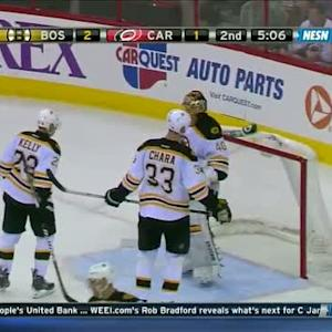 Tuukka Rask flashes the catching glove