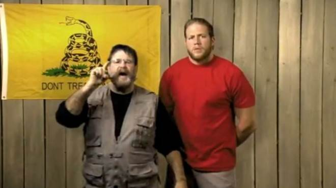 """We are real Americans and we believe in the First Amendment,"" say wrestlers Zeb Colter and Jack Swagger."