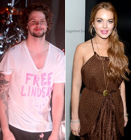 PICTURE: The Wanted&#39;s Jay McGuiness Wears &quot;Free Lindsay&quot; T-Shirt After Lohan&#39;s Assault Arrest