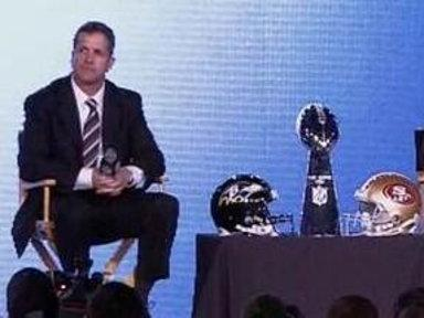 Harbaugh Brothers Discuss Super Bowl Faceoff