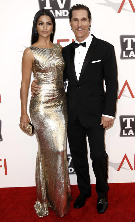 Matthew McConaughey, right, and Camilla Alves