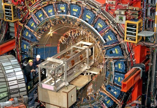 &lt;p&gt;Scientists work at the three-story, 6,000-ton CDF Collider Detector at Fermilab) in the Fermi National Accelerator Laboratory (Fermilab), just outside Batavia, Illinois. Physicists reported finding strong hints of the Higgs boson, the elusive particle that is believed to give objects mass, but said European data is needed to confirm any potential discovery.&lt;/p&gt;