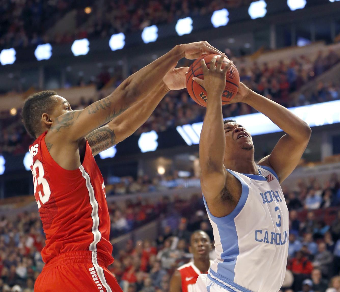 No. 24 North Carolina beats No. 12 Ohio St 82-74