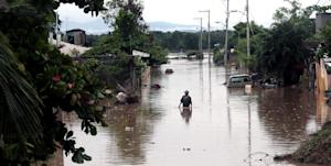 View of a flooded street in Acapulco, Guerrero state, …