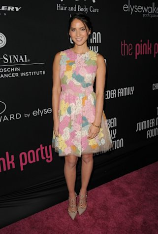 Olivia Munn is seen at Elyse Walker presents the 8th annual Pink Party hosted by Michelle Pfeiffer to benefit Cedars-Sinai Women&#39;s Cancer Program held at HANGAR:8 in Santa Monica, Calif., on October 27, 2012 -- Getty Images