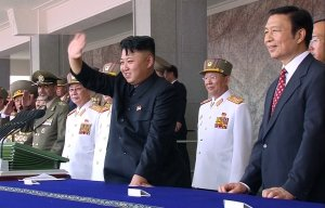 In this image made from video, North Korean leader…