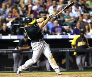 Inge had go-ahead double, lifts A's past Rockies