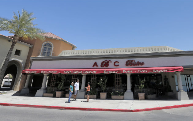 This Monday, May 20, 2013 photo shows Amy's Baking Company in Scottsdale, Ariz. After a particularly ugly TV experience, Amy's is fighting back and trying to raise awareness for cyber-bullying. They a
