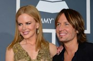 Nicole Kidman and Keith Urban arrive on the red carpet at the Staples Center for the 55th Grammy Awards in Los Angeles -- Getty Images
