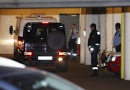 Norwegian mass killer Anders Behring Breivik arrives in an enclosed van at a court in Oslo, Monday, Nov. 14, 2011. Breivik has admitted killing 77 people on July 22. (AP Photo/Scanpix, Jon Eeg) NORWAY OUT