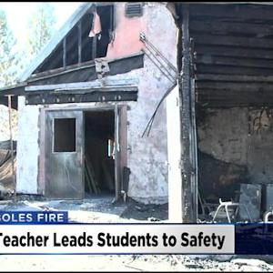 Teacher Recalls Helping Save Students From Boles Fire's Fast Spread