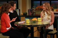 Lauren Conrad visits Billy Bush and Kit Hoover on Access Hollywood Live on October 11, 2012 -- Access Hollywood