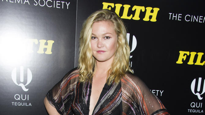 "FILE - This May 19, 2014 file photo shows actress Julia Stiles at a screening of ""Filth"" hosted by The Cinema Society and Magnolia Pictures in New York. Stiles is returning to the New York stage in a quirky little comedy about a one-night-stand that has long-term implications. The Cherry Lane Theatre said Tuesday, June 3, 2014, that the star of ""10 Things I Hate About You,"" and David Mamet's ""Oleanna"" on Broadway will next star in Scott Organ's play ""Phoenix."" James Wirt will play her love interest and Jennifer DeLia will direct them. (Photo by Charles Sykes/Invision/AP, File)"