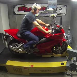 DYNO RUN VIDEO: Honda VFR800F Interceptor