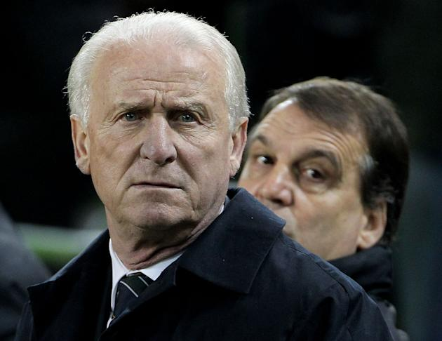 Giovanni Trapattoni saw his side slip to another defeat at the Aviva Stadium