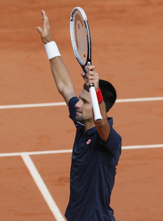 Serbia's Novak Djokovic Celebrates  AFP/Getty Images