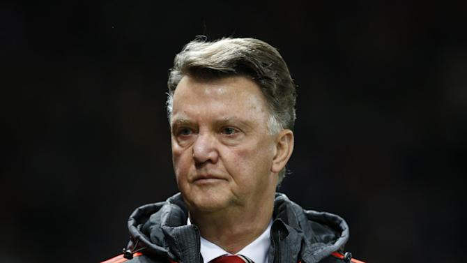 Manchester United's manager Louis van Gaal is seen during the Champions League group B soccer match between Manchester United and PSV Eindhoven at Old Trafford Stadium in Manchester, England, Wednesday, Nov. 25, 2015. (AP Photo/Jon Super)