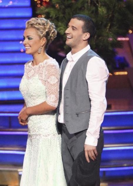 Katherine Jenkins and Mark Ballas listen to the judges comments on 'Dancing,' May 7, 2012 -- ABC