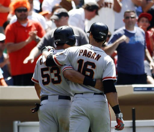 Cain wins 6th straight start as Giants beat Padres